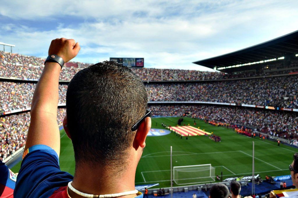 barcelona sportovní fanoušek na stadionu